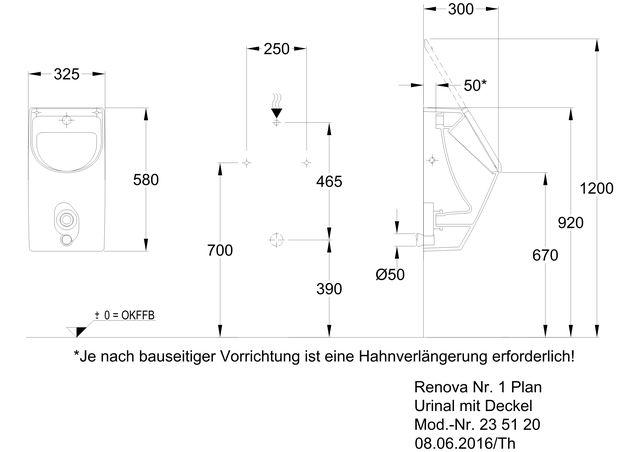 Renova Nr 1 Plan Urinal Mit Deckel Sanitarinstallateur Luneburg